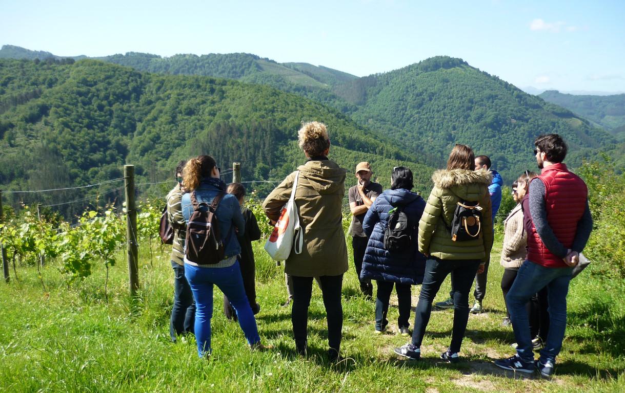 visita a Urkizahar txakolin ekologikoa