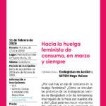 taller de preparación de la huelga feminista de consumo