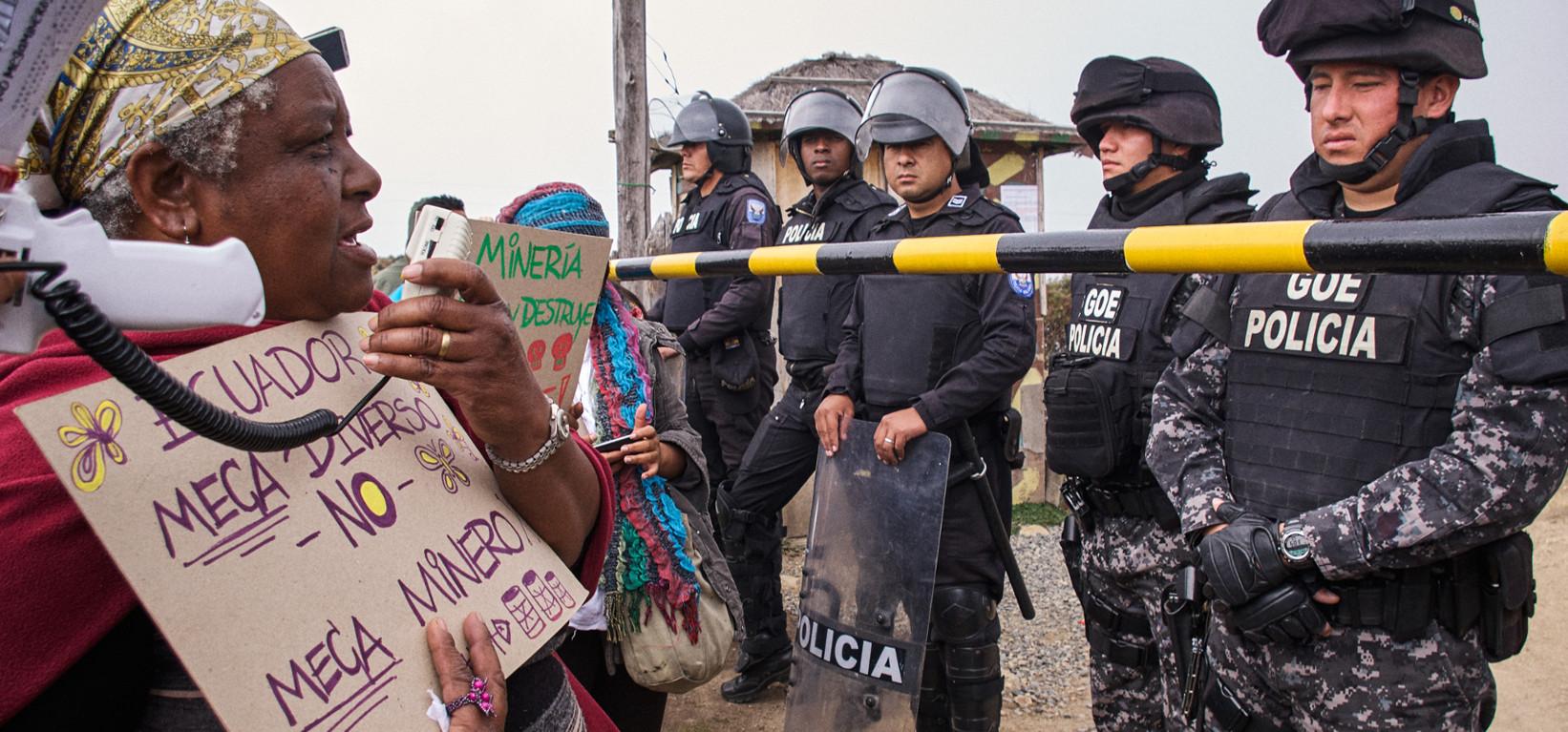 defensa del territorio en Ecuador ante minería